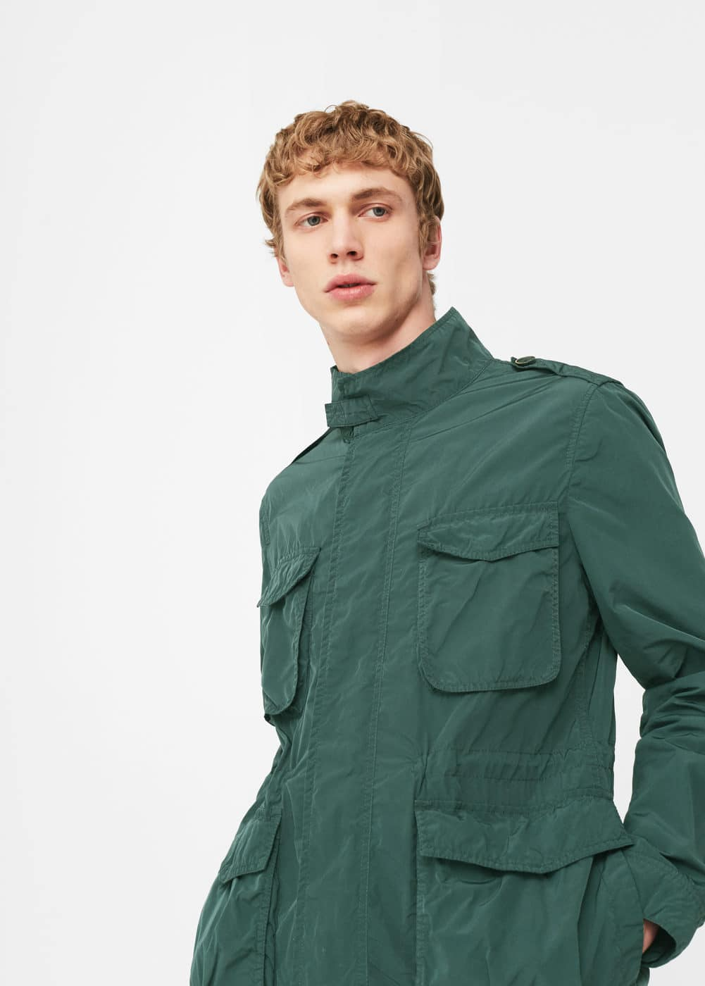 Cotton field jacket | MANGO MAN