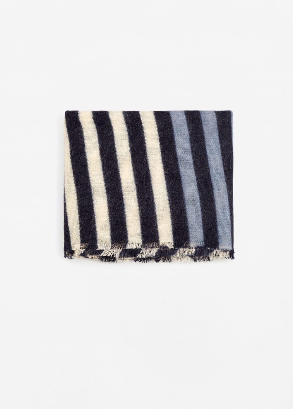 Striped monochrome scarf | MANGO