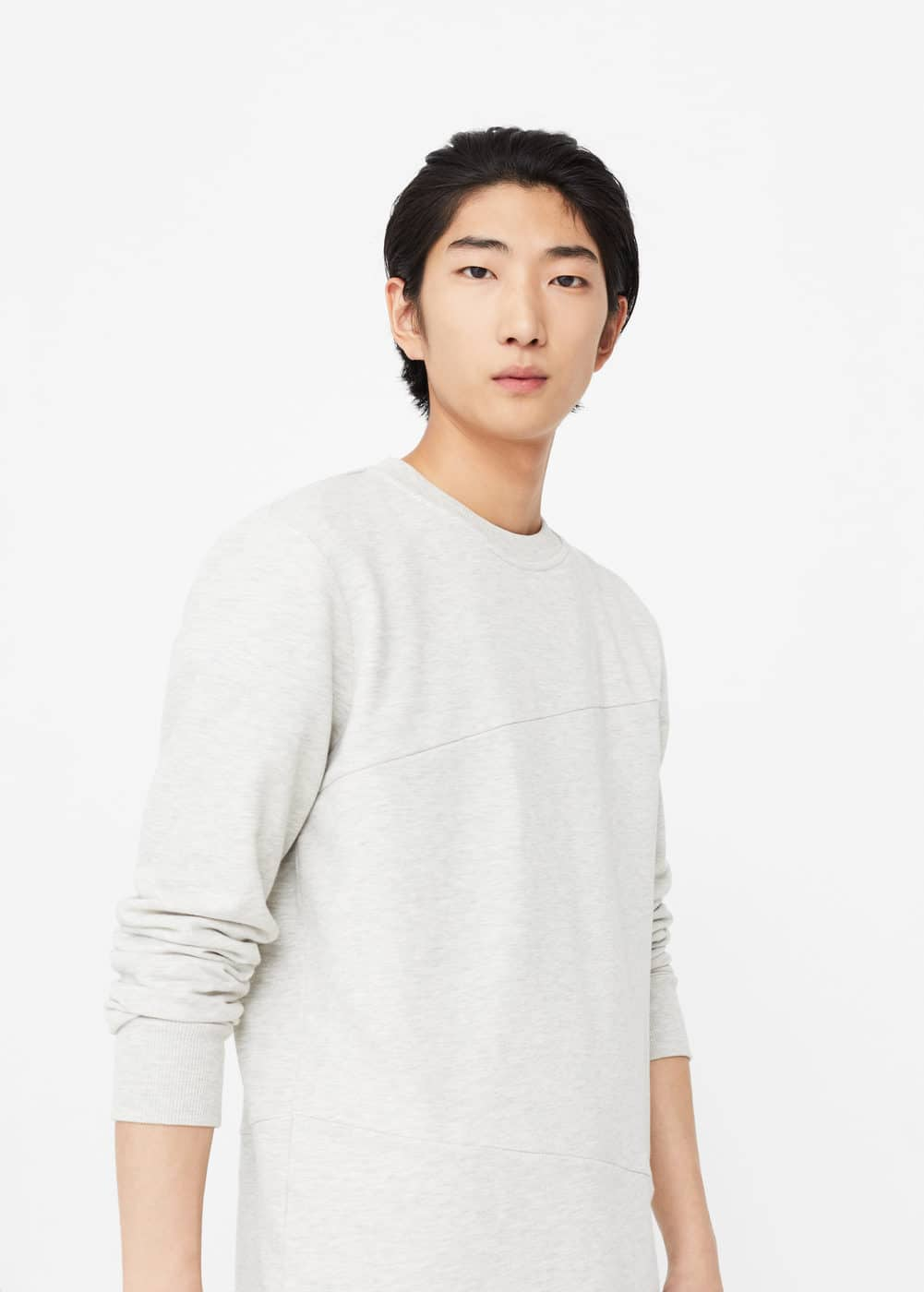 Plush cotton sweatshirt | MANGO