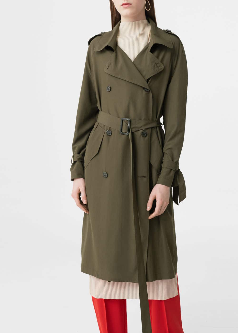 Cotton-blend trench coat | MANGO