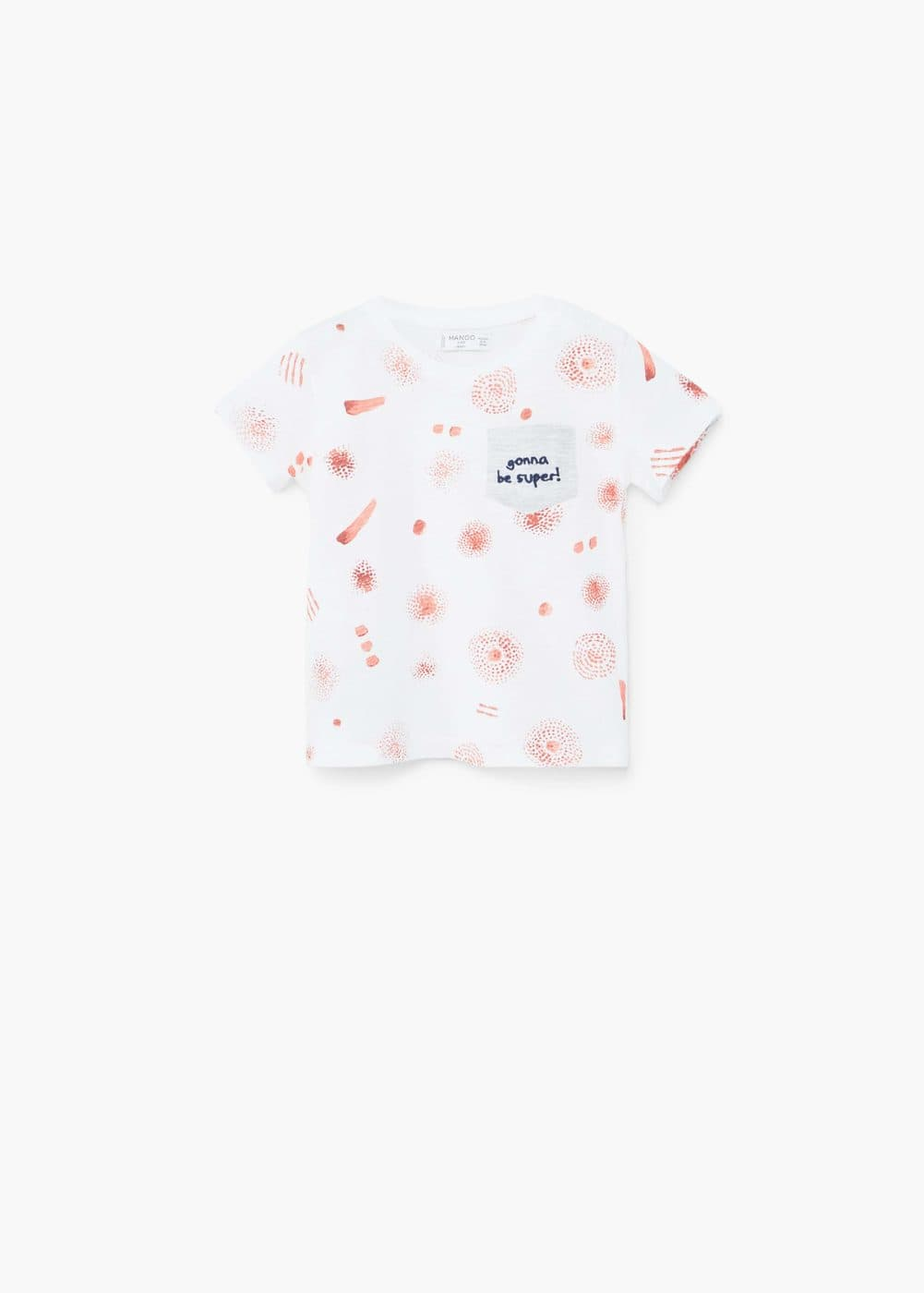 Chest-pocket printed t-shirt | MANGO KIDS