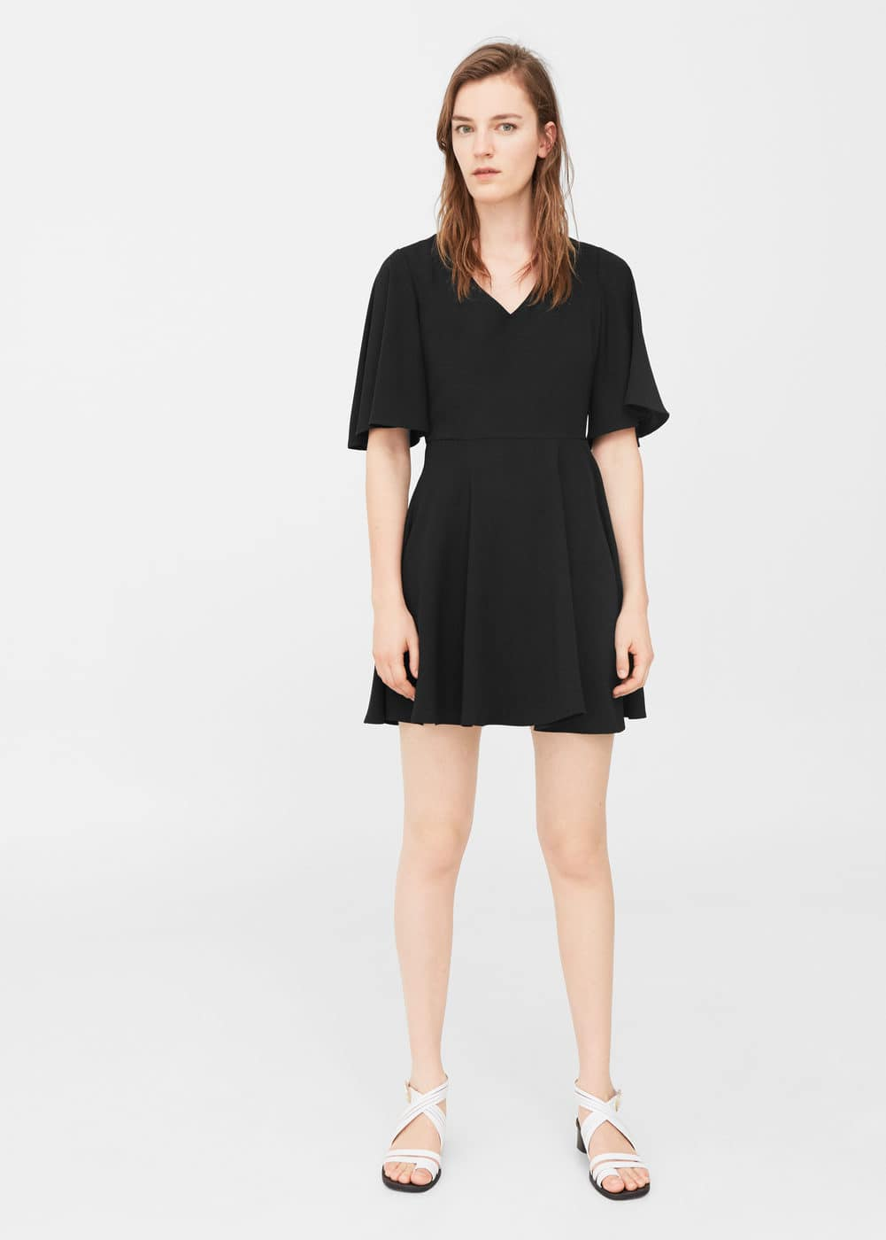 Fluted hem dress | MNG