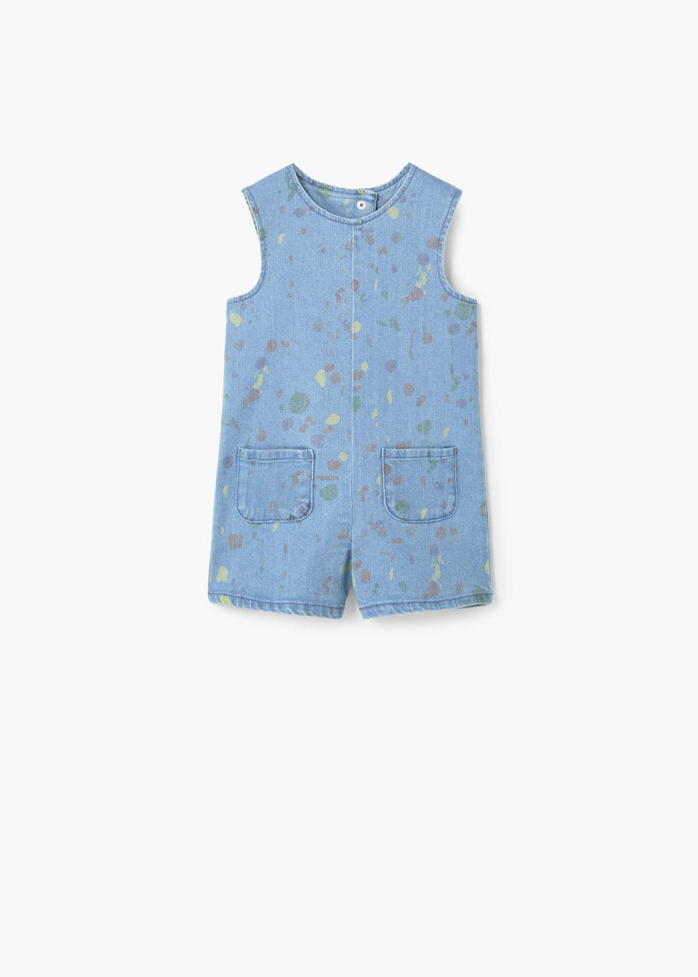 Paint drop denim dungarees | MANGO