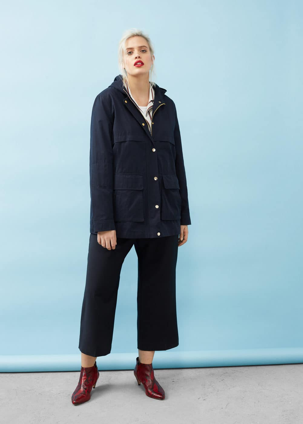 Lightweight cotton trench | VIOLETA BY MANGO