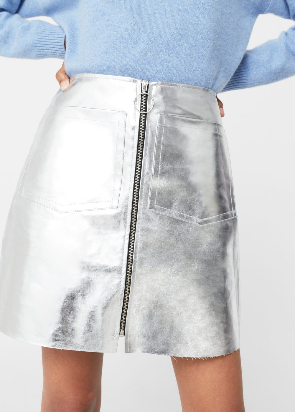 Metallic skirt | MANGO