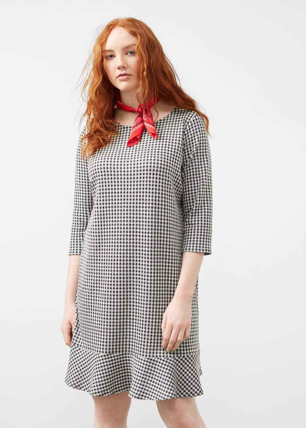 Houndstooth dress | MANGO