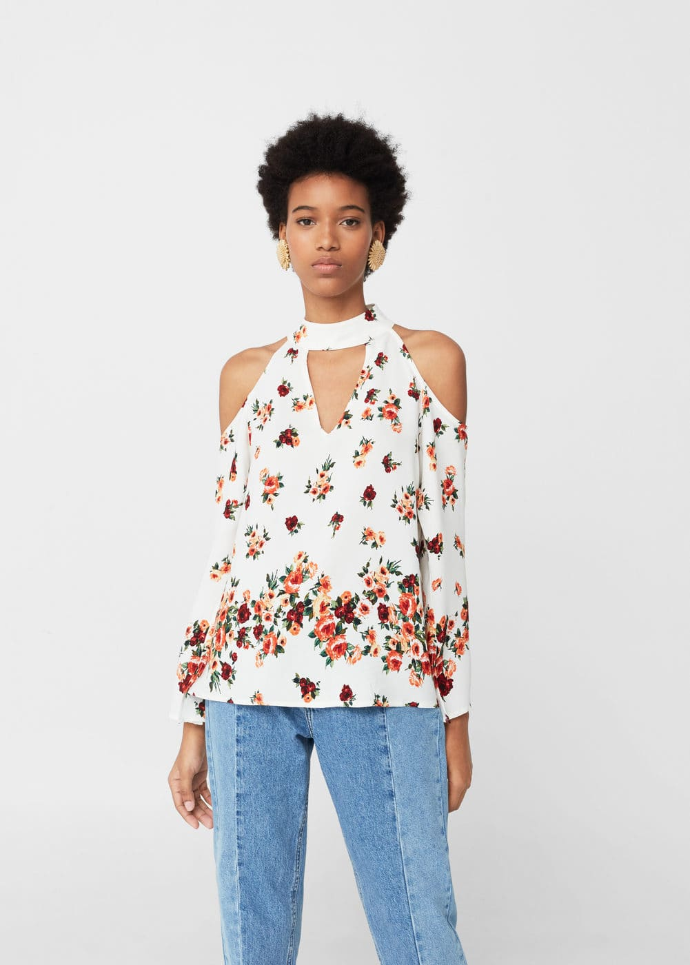 Fließende off-shoulder-bluse | MANGO