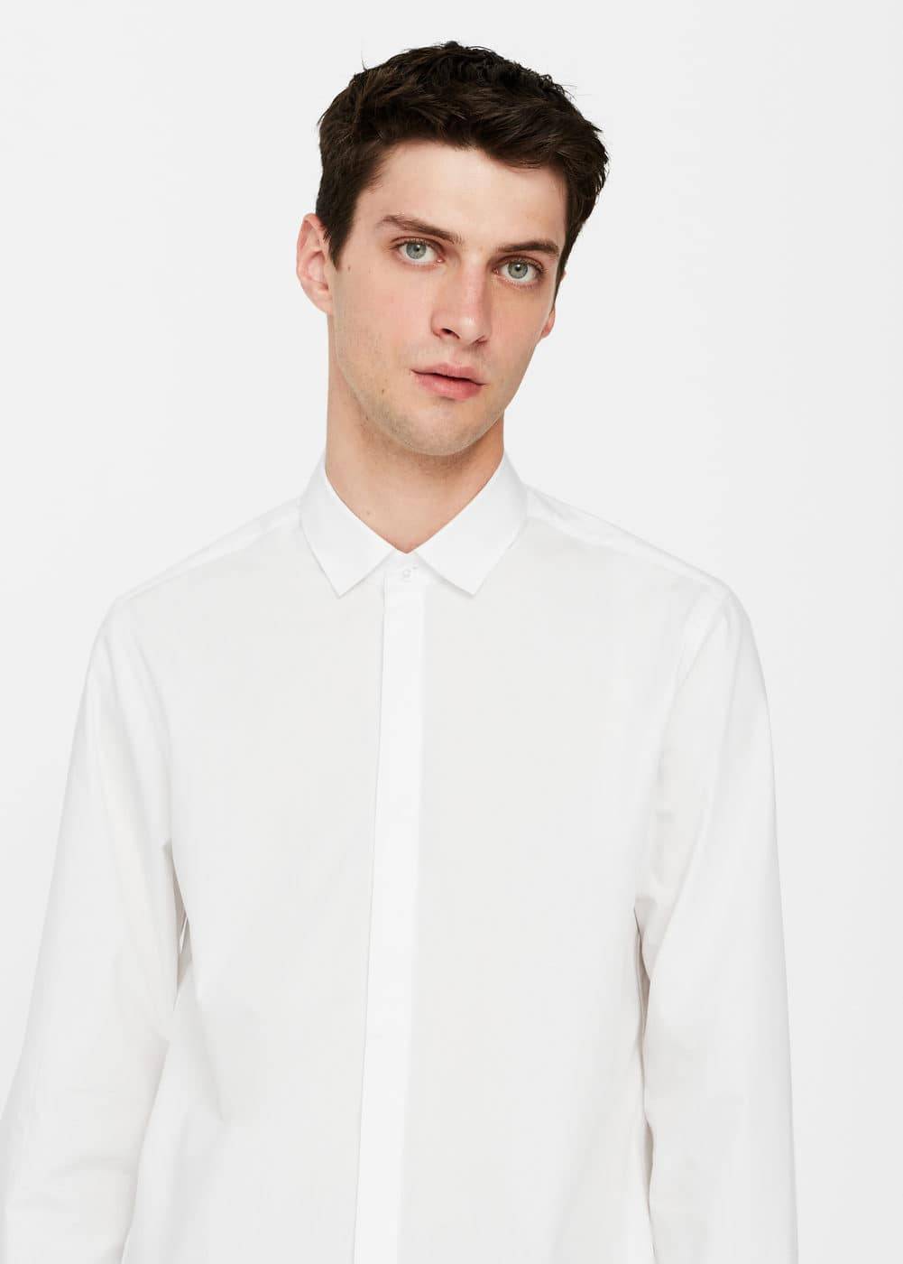 Camisa regular-fit algodón | MANGO
