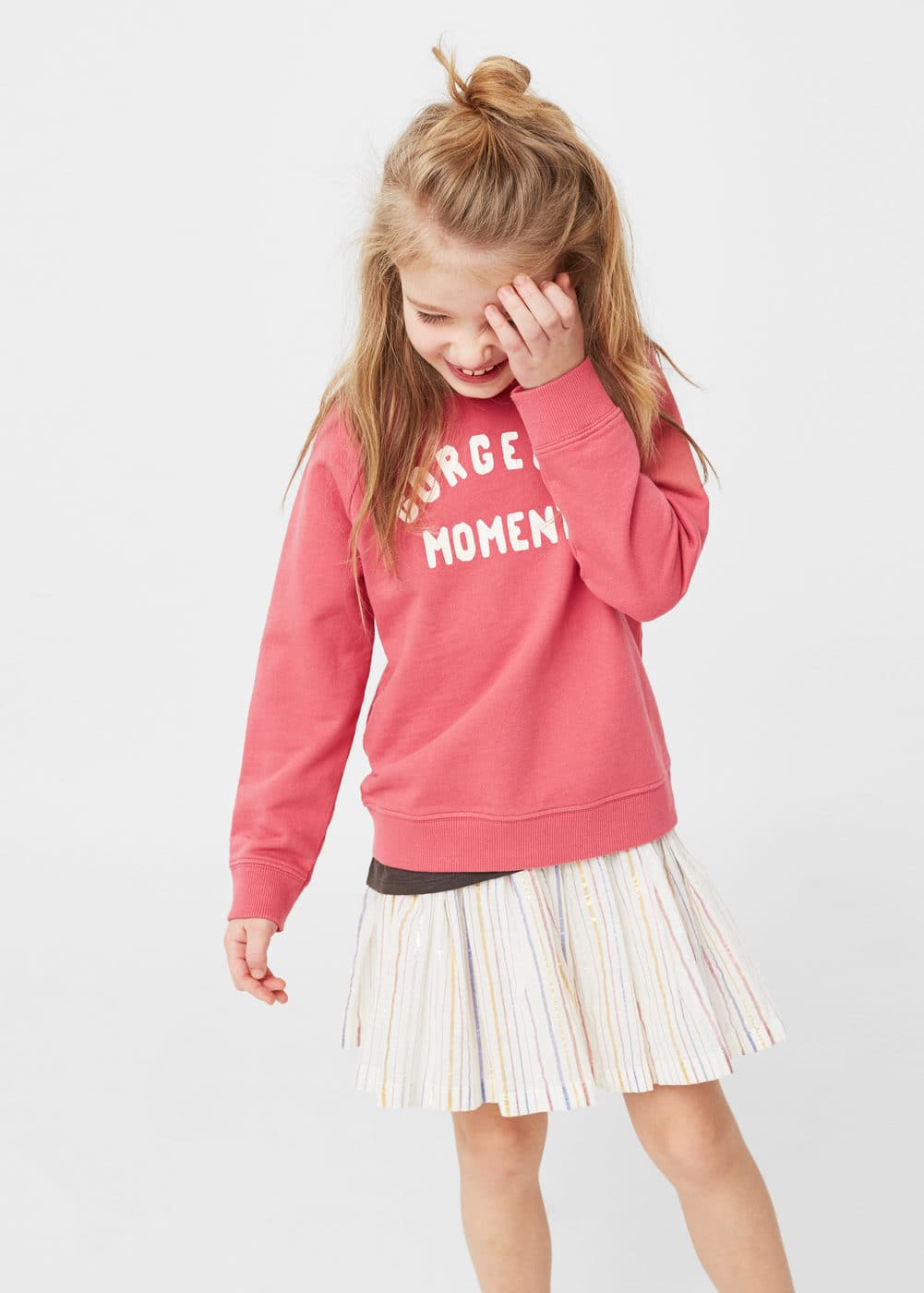 Message cotton sweatshirt | MANGO KIDS