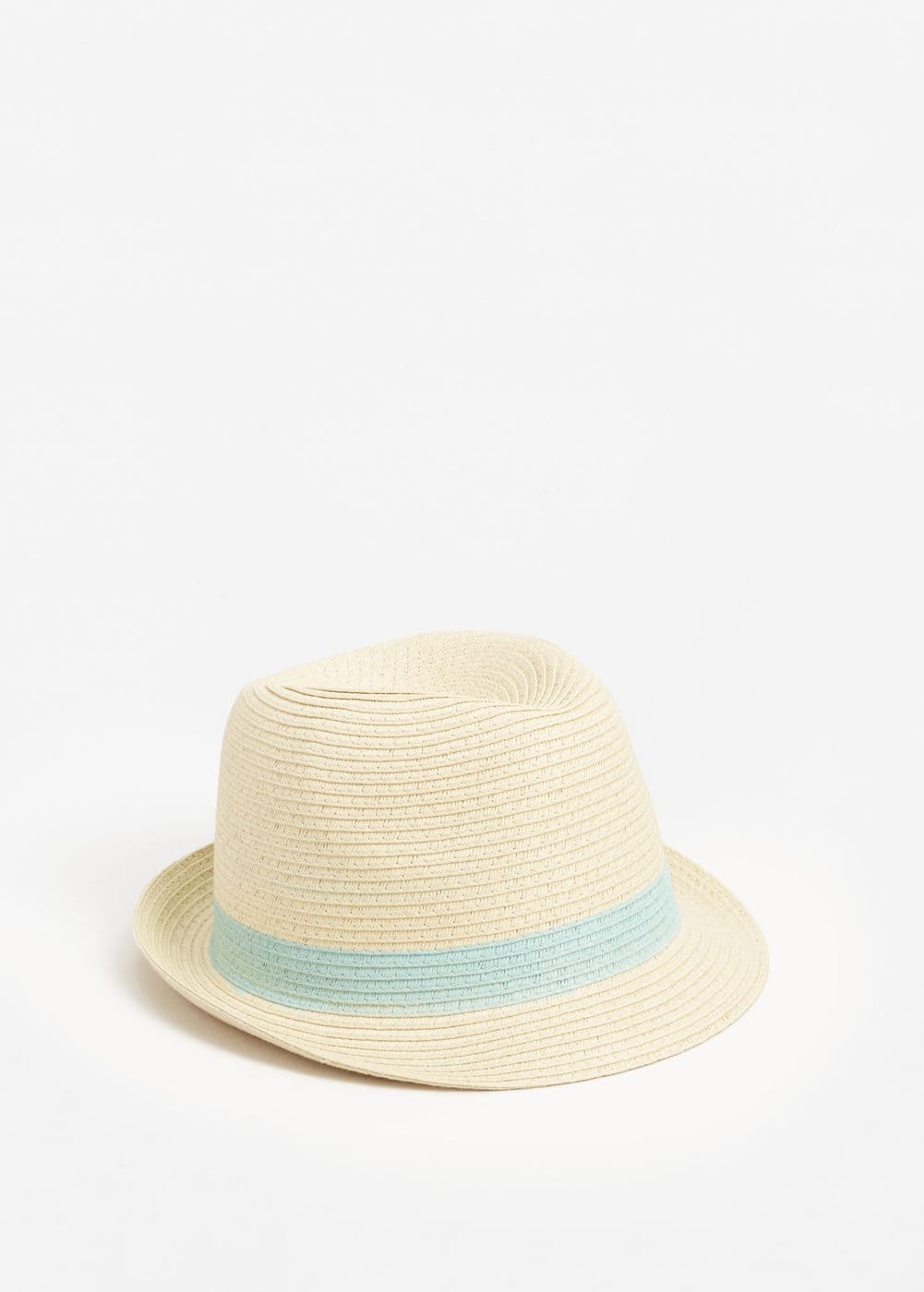 Bicolor straw hat | MANGO KIDS
