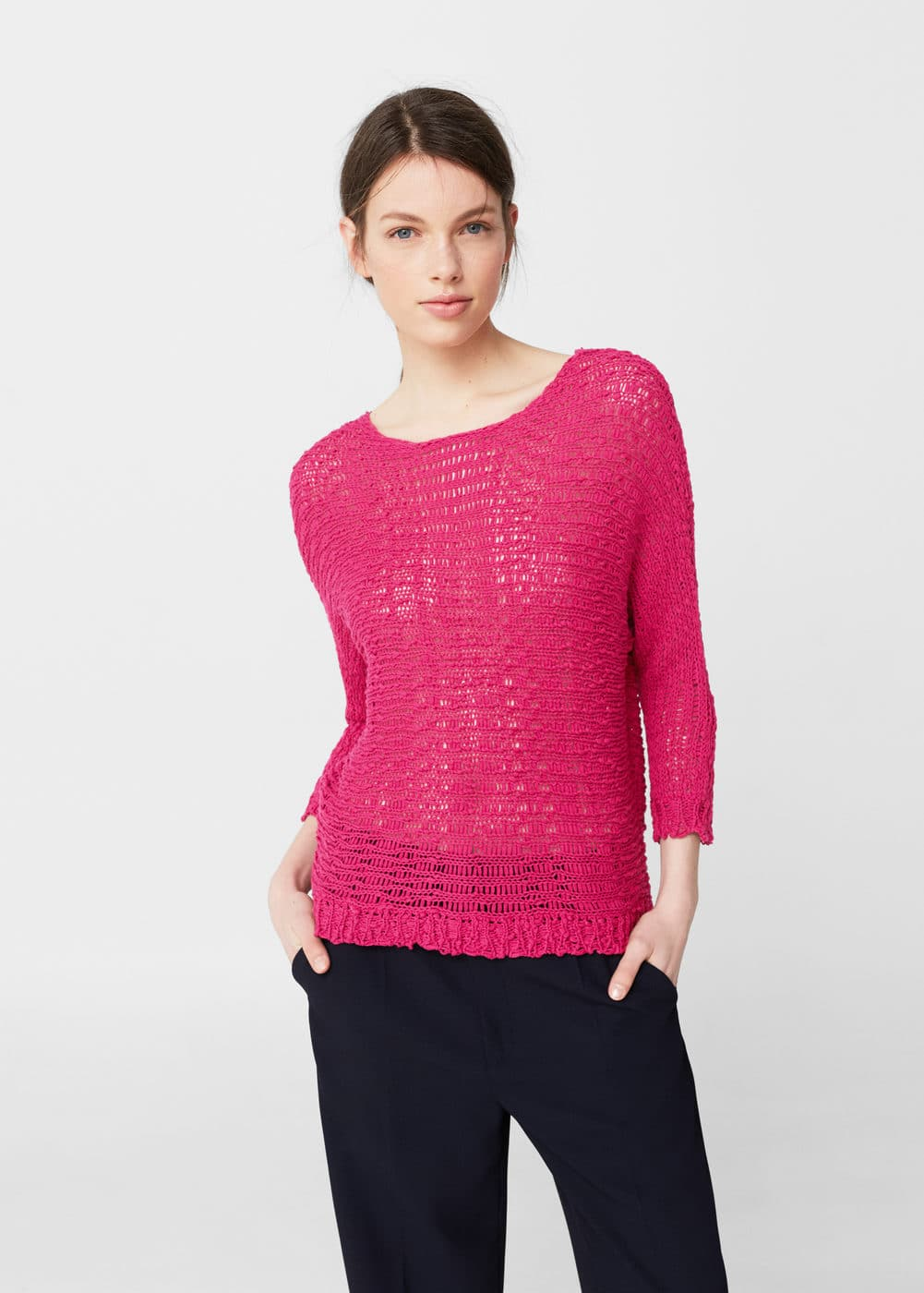 Openwork knit sweater | MANGO