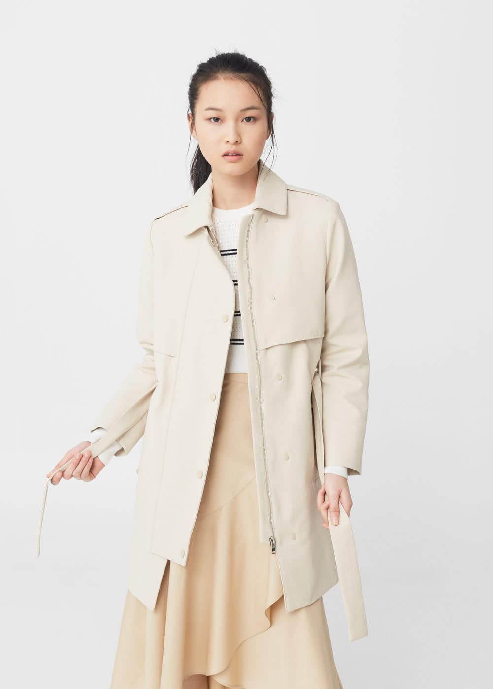 Classic cotton trench coat | MNG