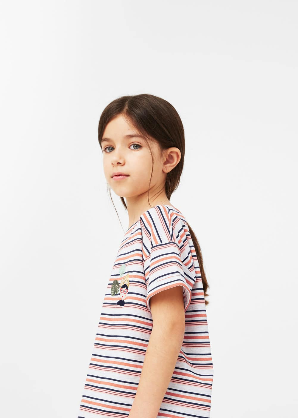 Camiseta rayas bordado | MANGO KIDS