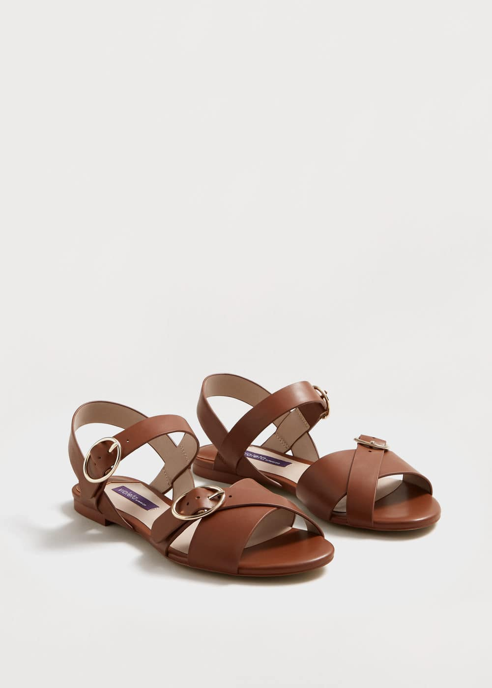 Buckle strap sandals | VIOLETA BY MANGO