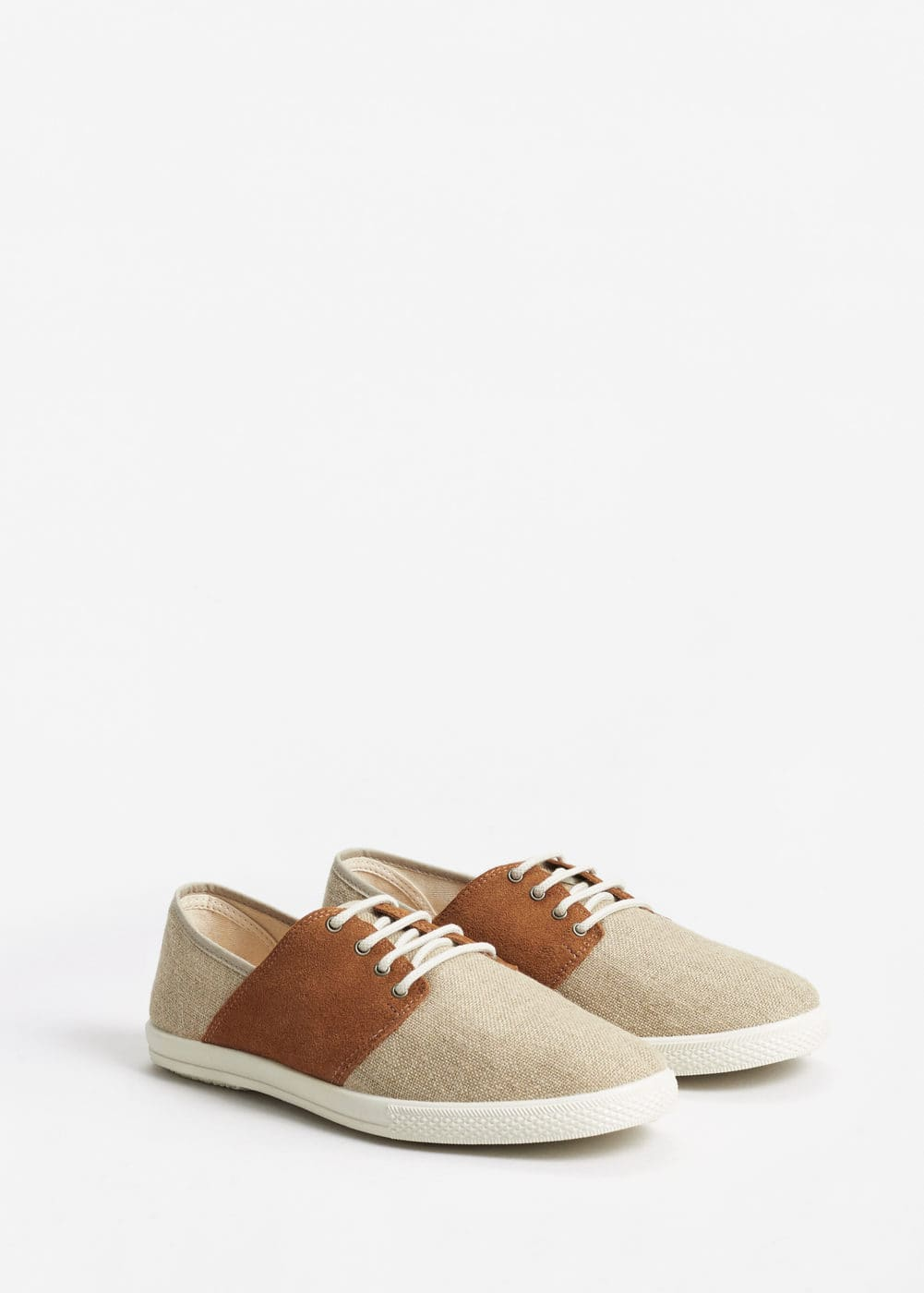 Suede mixed sneakers | MANGO MAN