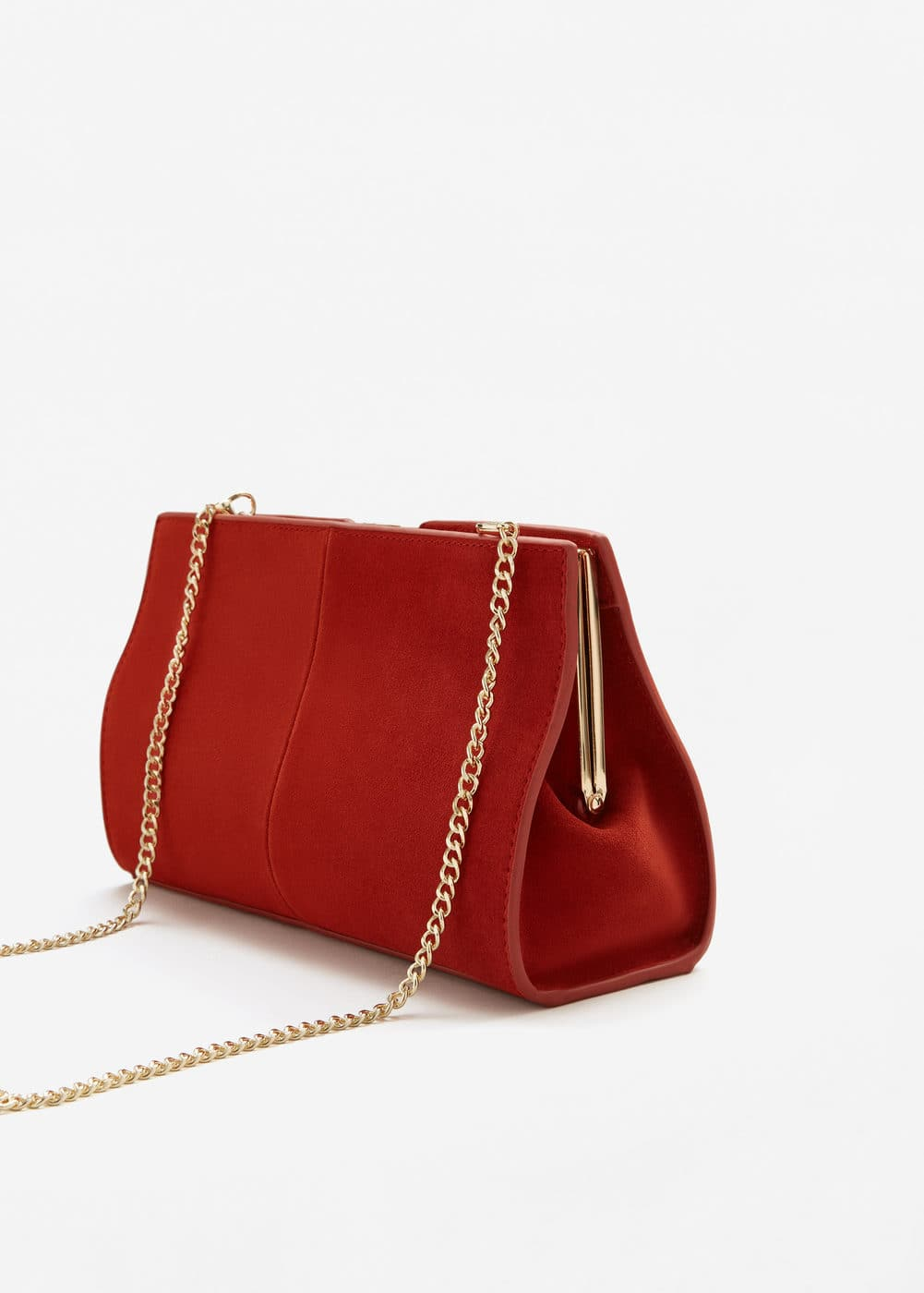 Leather clutch | MANGO