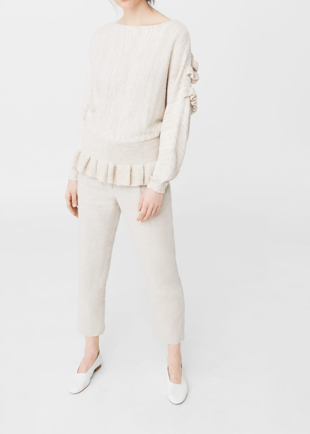 Ruffled sweater | MANGO