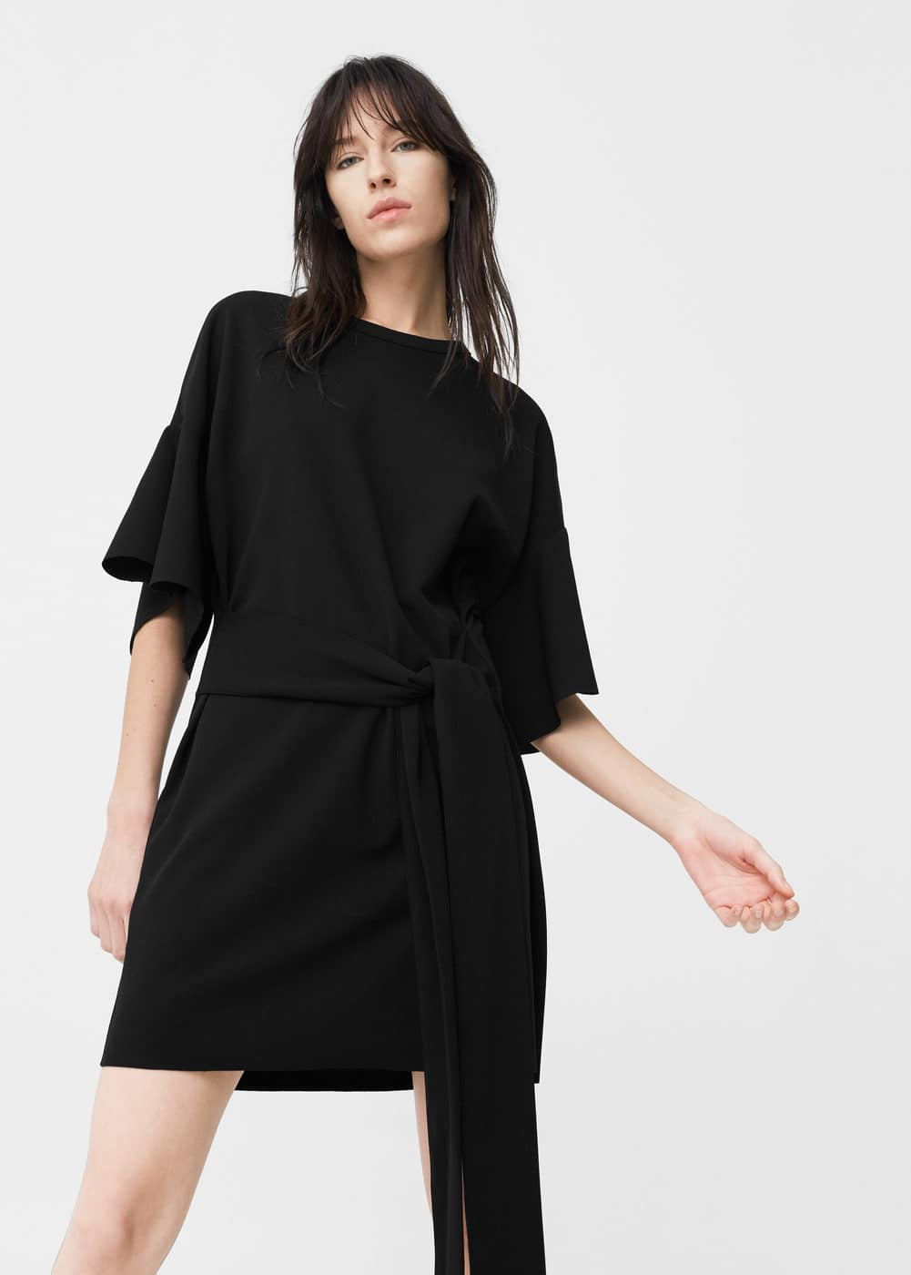 Frilled belt dress | MANGO