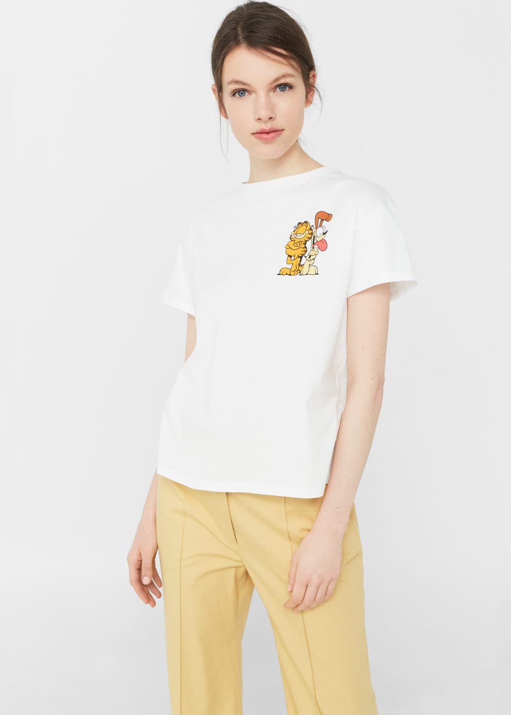 Garfield cotton t-shirt | MANGO