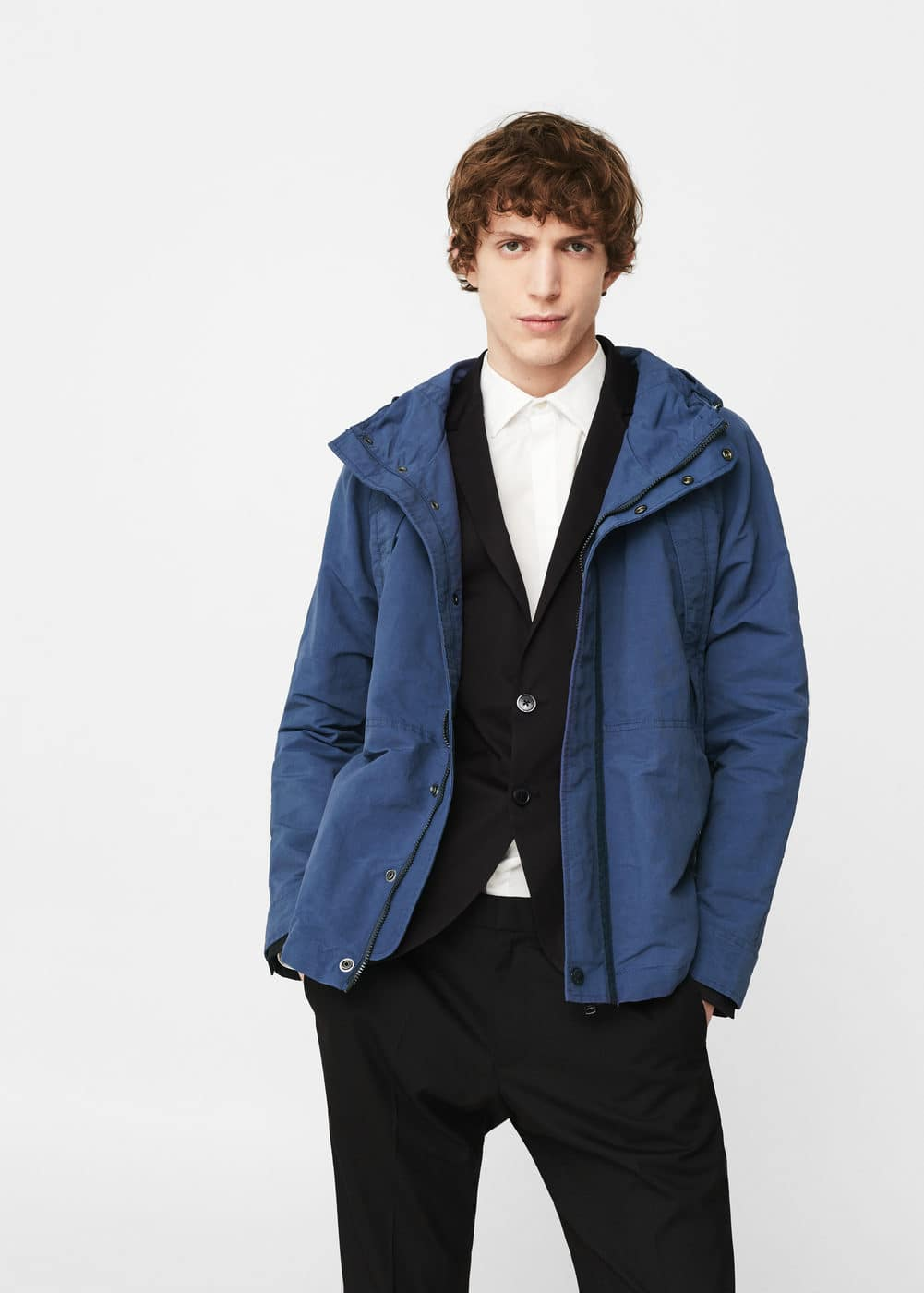 Pocket nylon jacket | MANGO