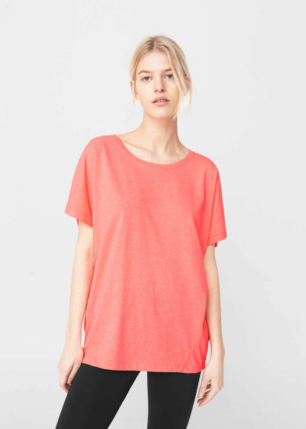 Relaxed cotton t-shirt | MANGO
