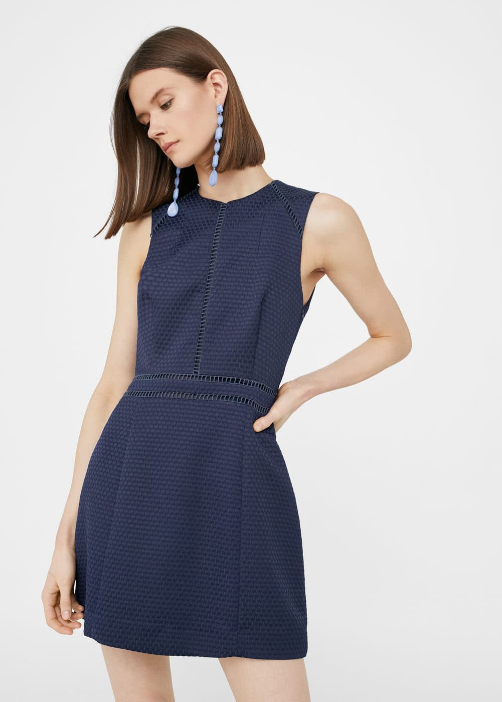 Open-work trim dress | MANGO