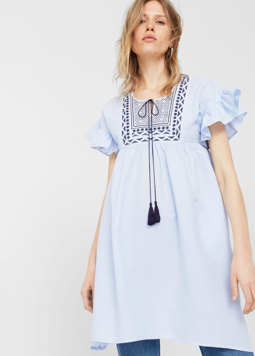 Embroidered panel dress | MNG