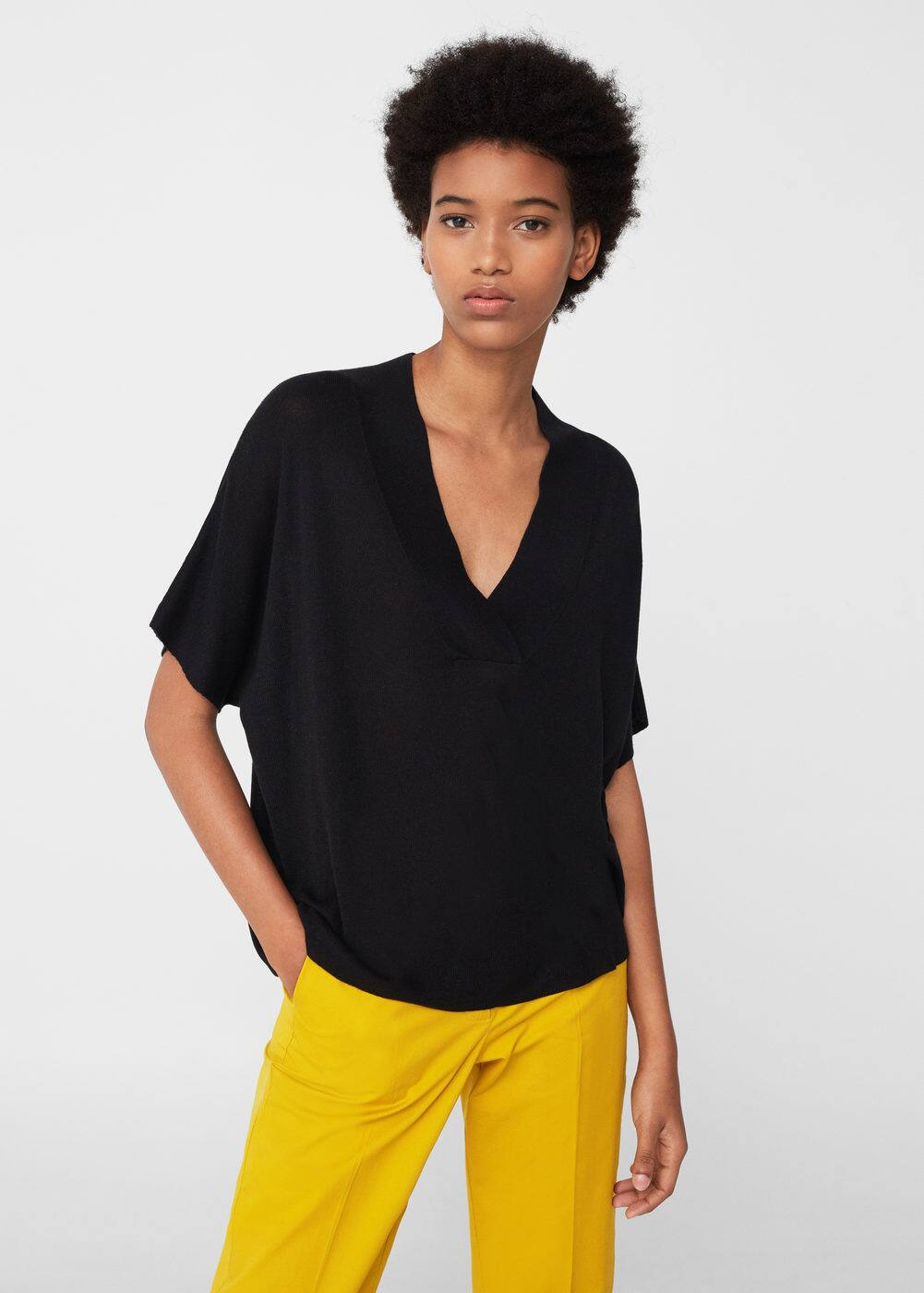 Short sleeve sweater | MANGO
