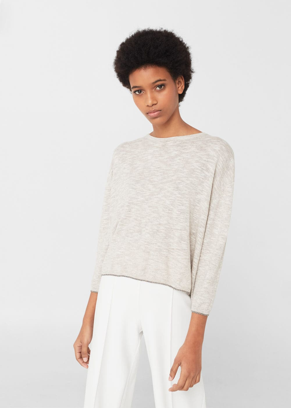 Decorative bows sweater | MANGO