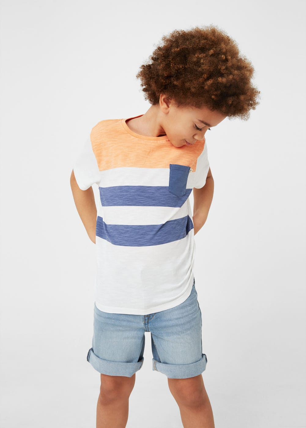 Striped cotton t-shirt | MNG