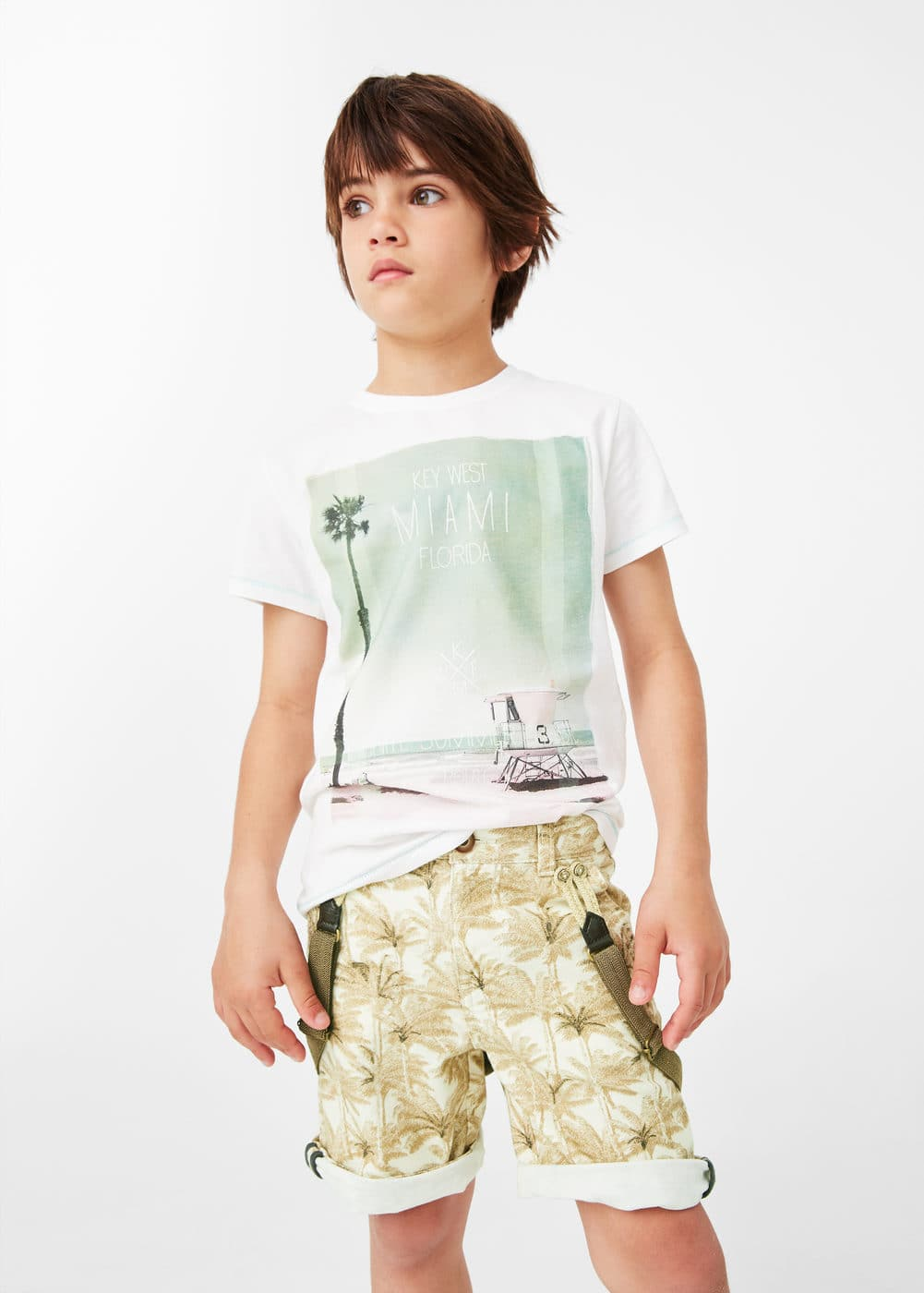 Braces printed bermuda shorts | MANGO
