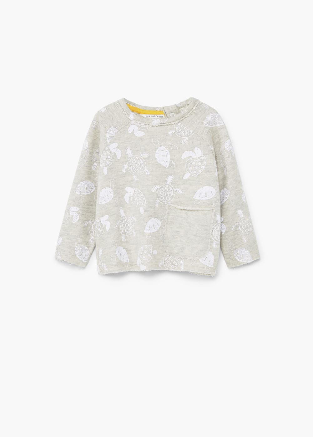 Embossed design sweatshirt | MANGO KIDS