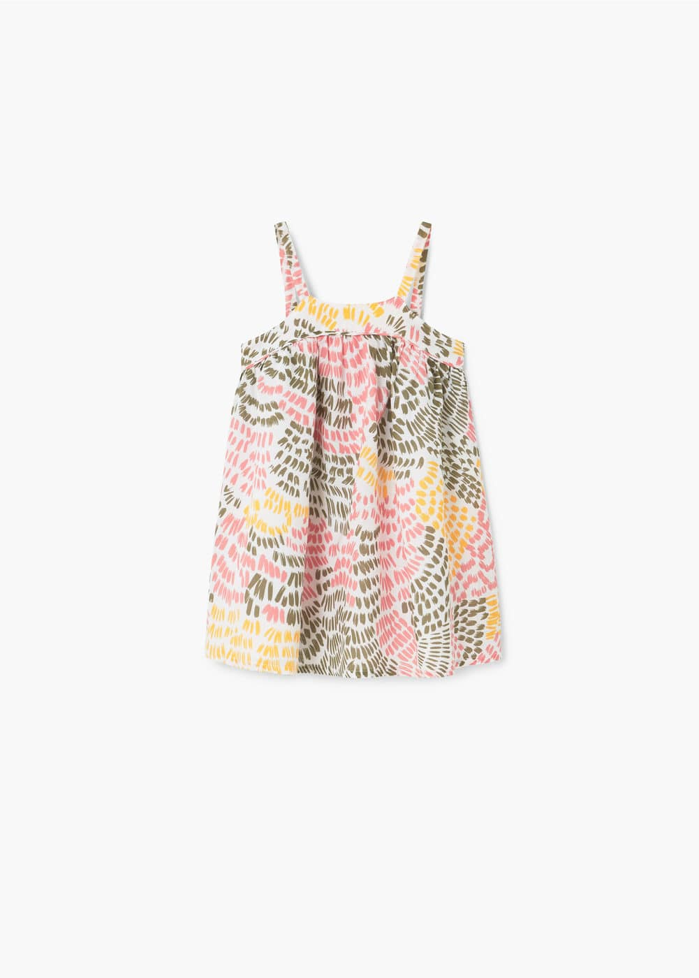 Printed cotton dress | MANGO KIDS
