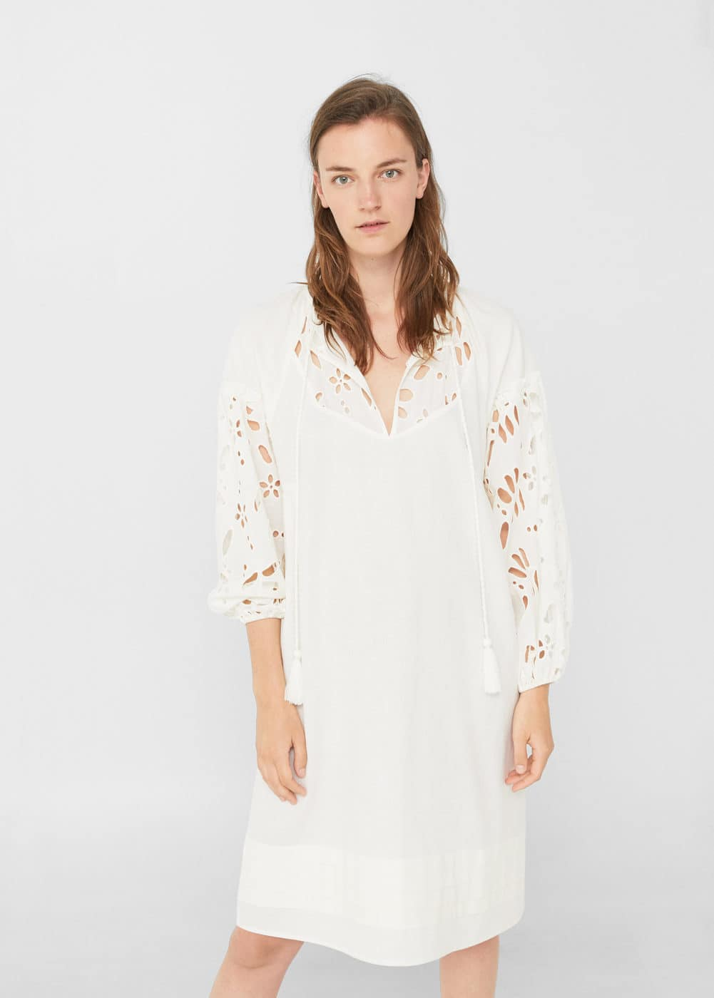 Openwork detail dress | MANGO