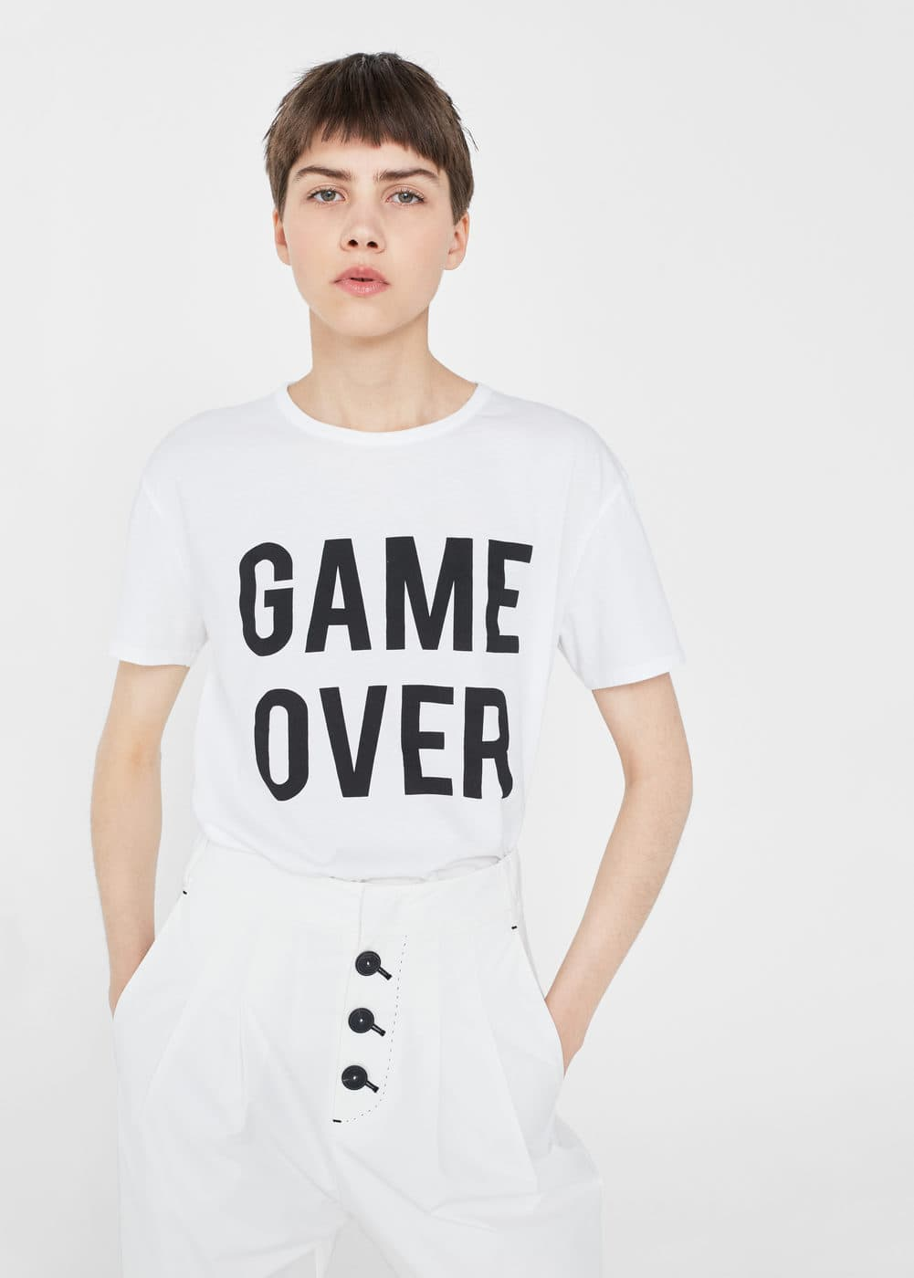 Game over cotton t-shirt | MANGO