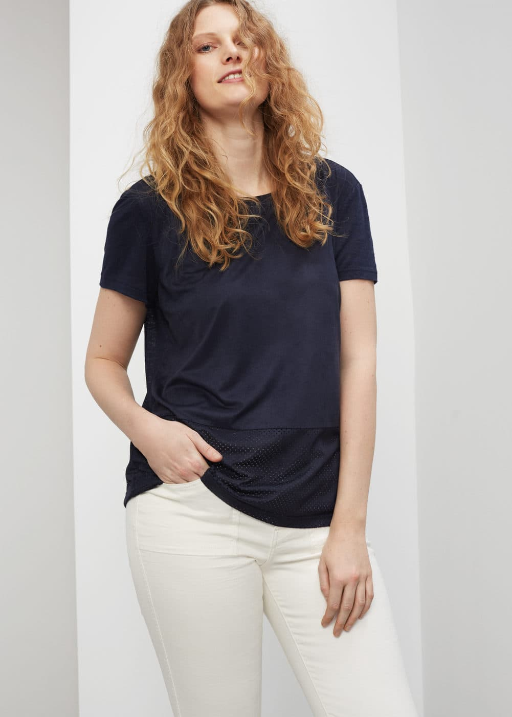 Suede t-shirt | VIOLETA BY MNG