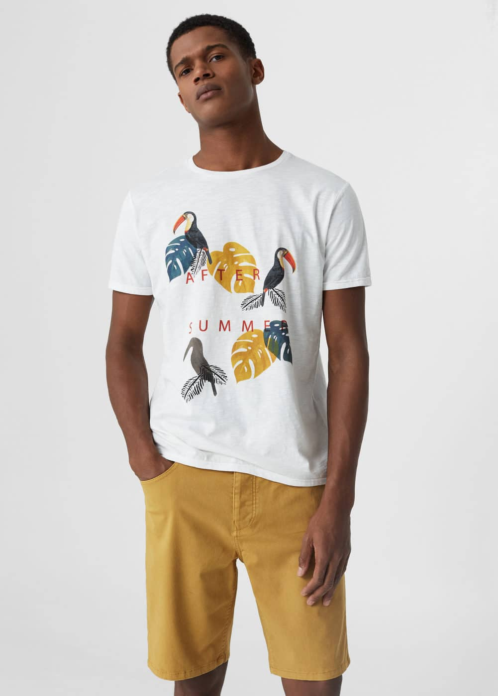 Bird print t-shirt | MNG