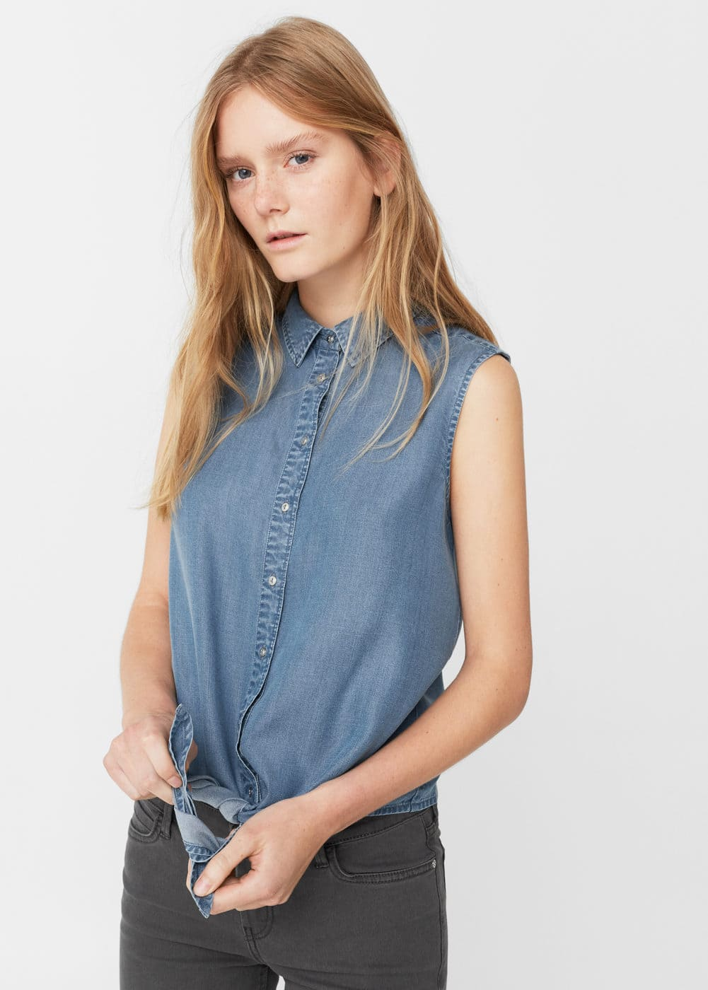 Top denim | MANGO