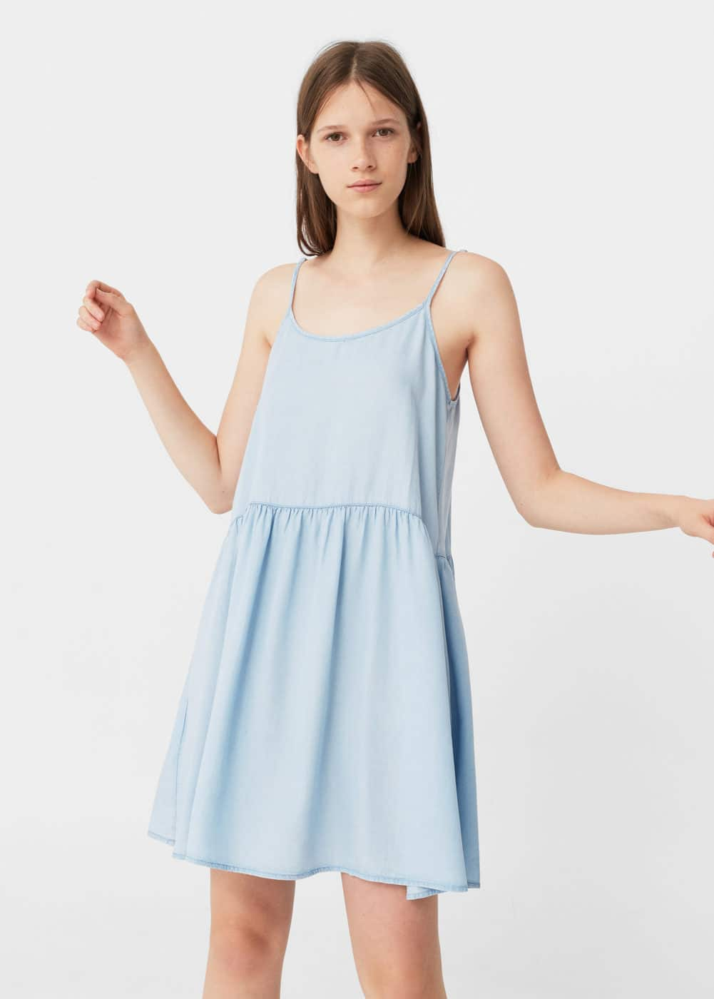 Light denim dress | MANGO