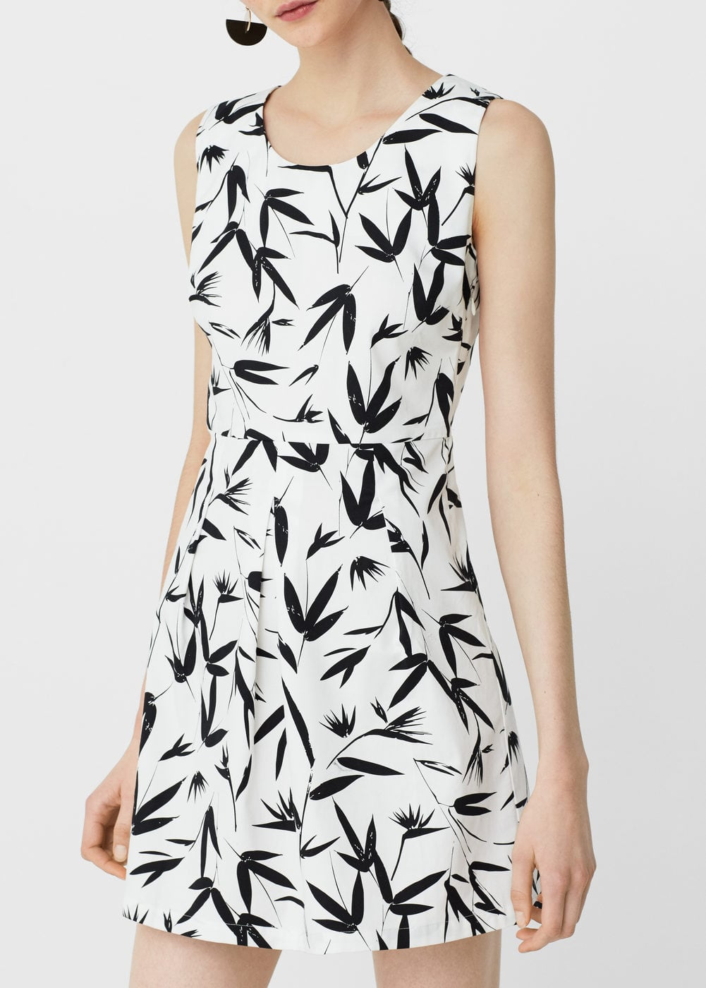 Printed cotton dress | MANGO