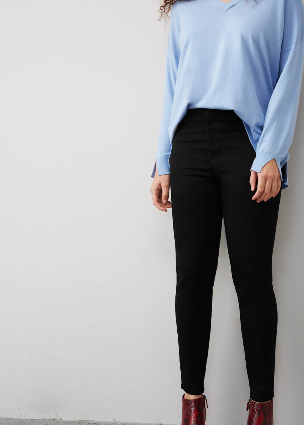 Jeggings high waist tania | VIOLETA BY MANGO