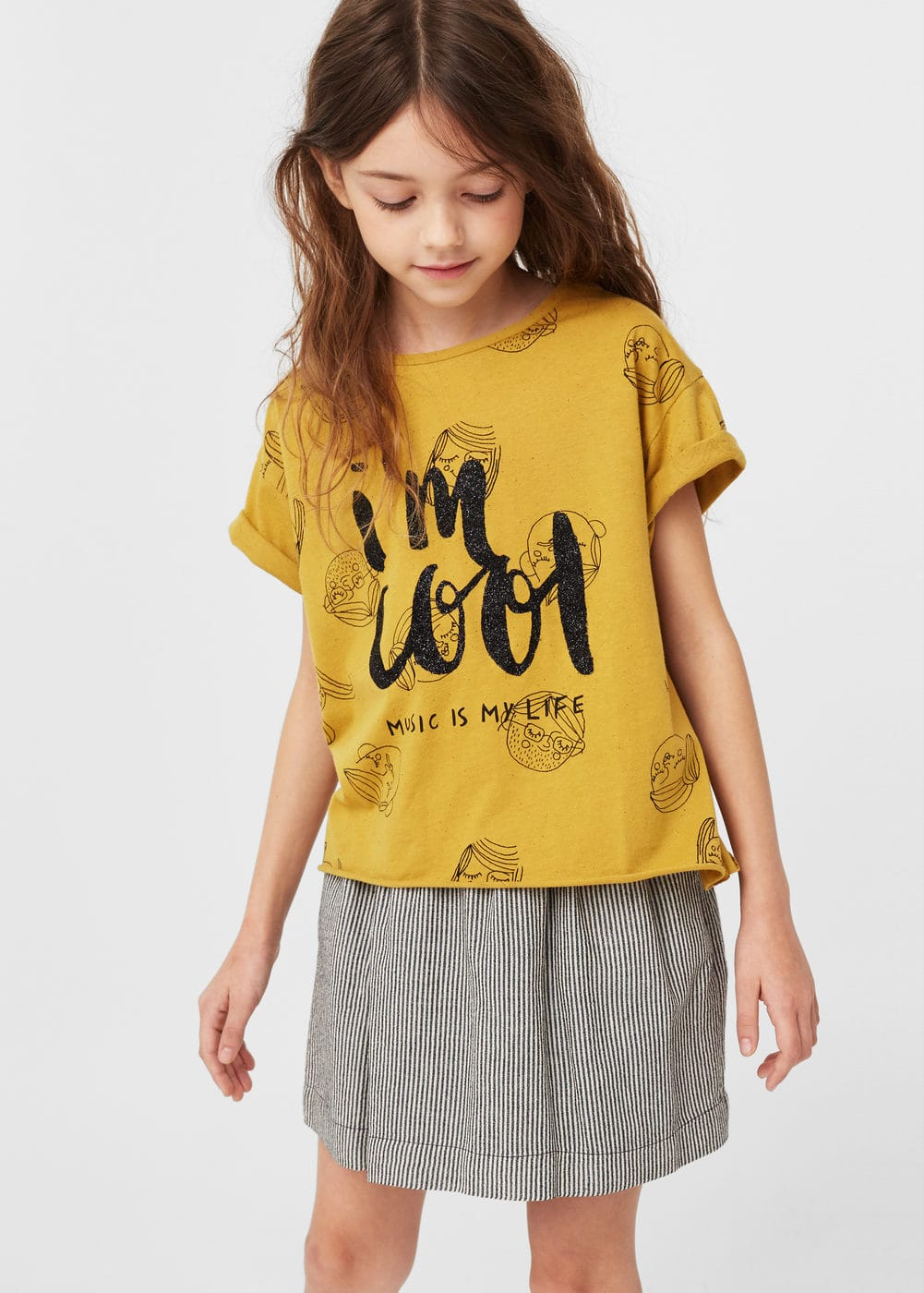 Camiseta estampado purpurina | MANGO KIDS