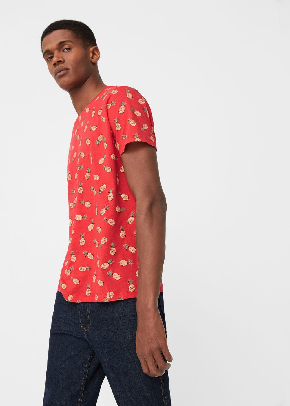 Pineapple cotton t-shirt | MANGO MAN