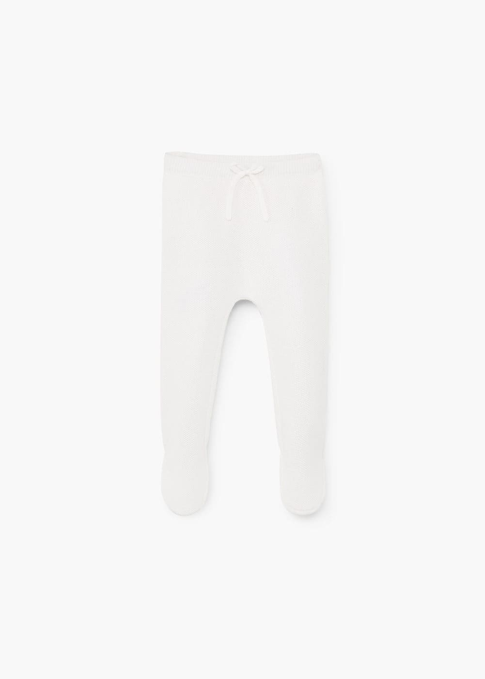 Cotton footed pants | MANGO KIDS