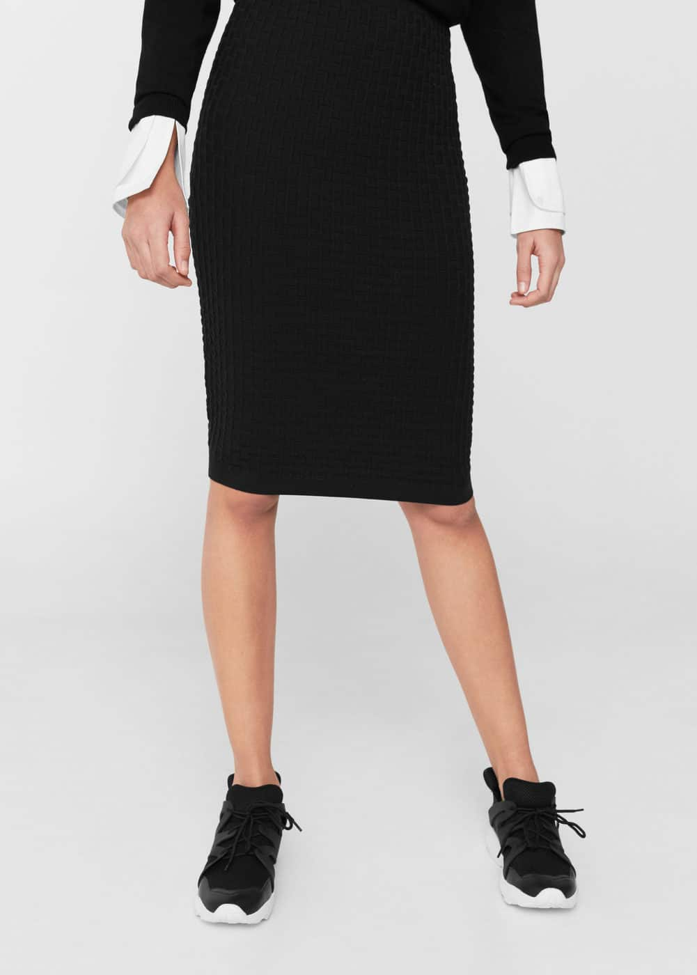 Midi textured skirt | MANGO