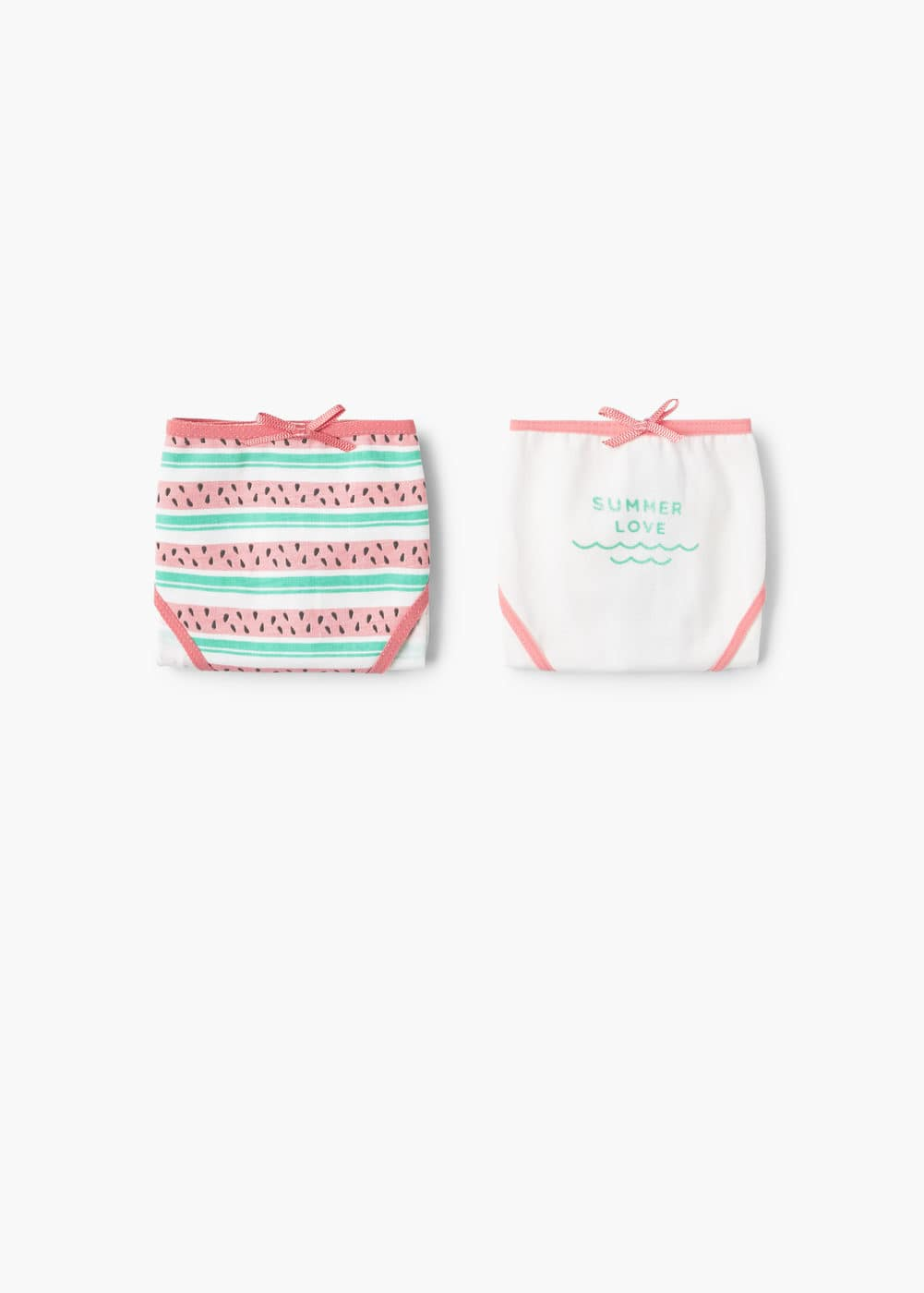 2 pack printed panties | MANGO KIDS