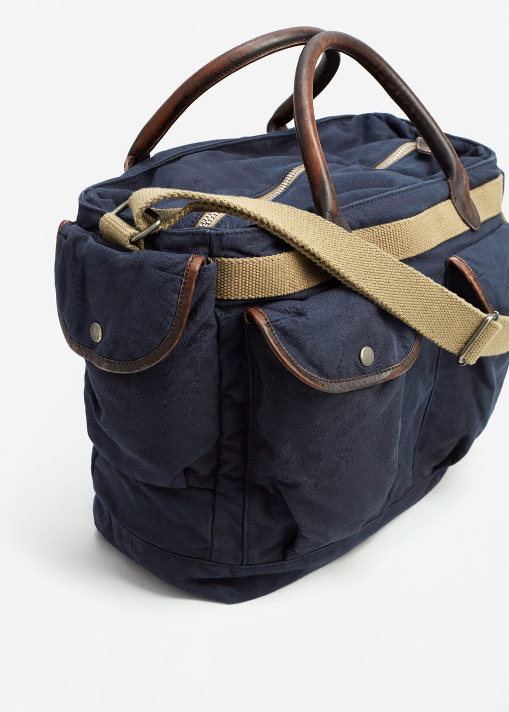 Canvas weekend bag | MANGO MAN