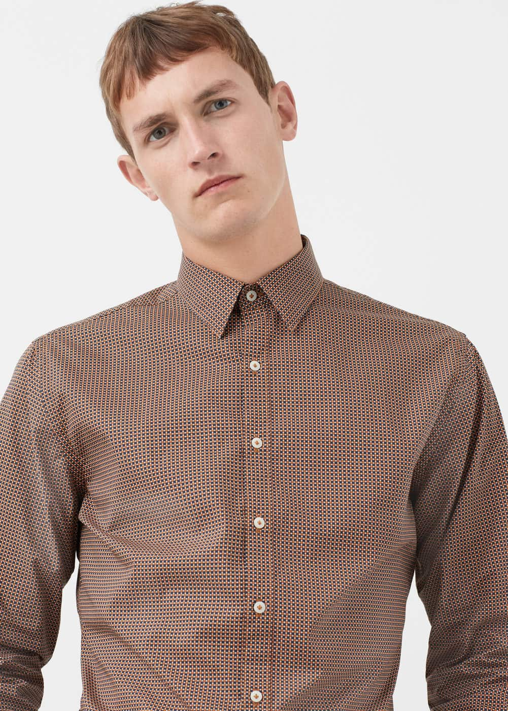 Slim-fit tie print shirt | MANGO