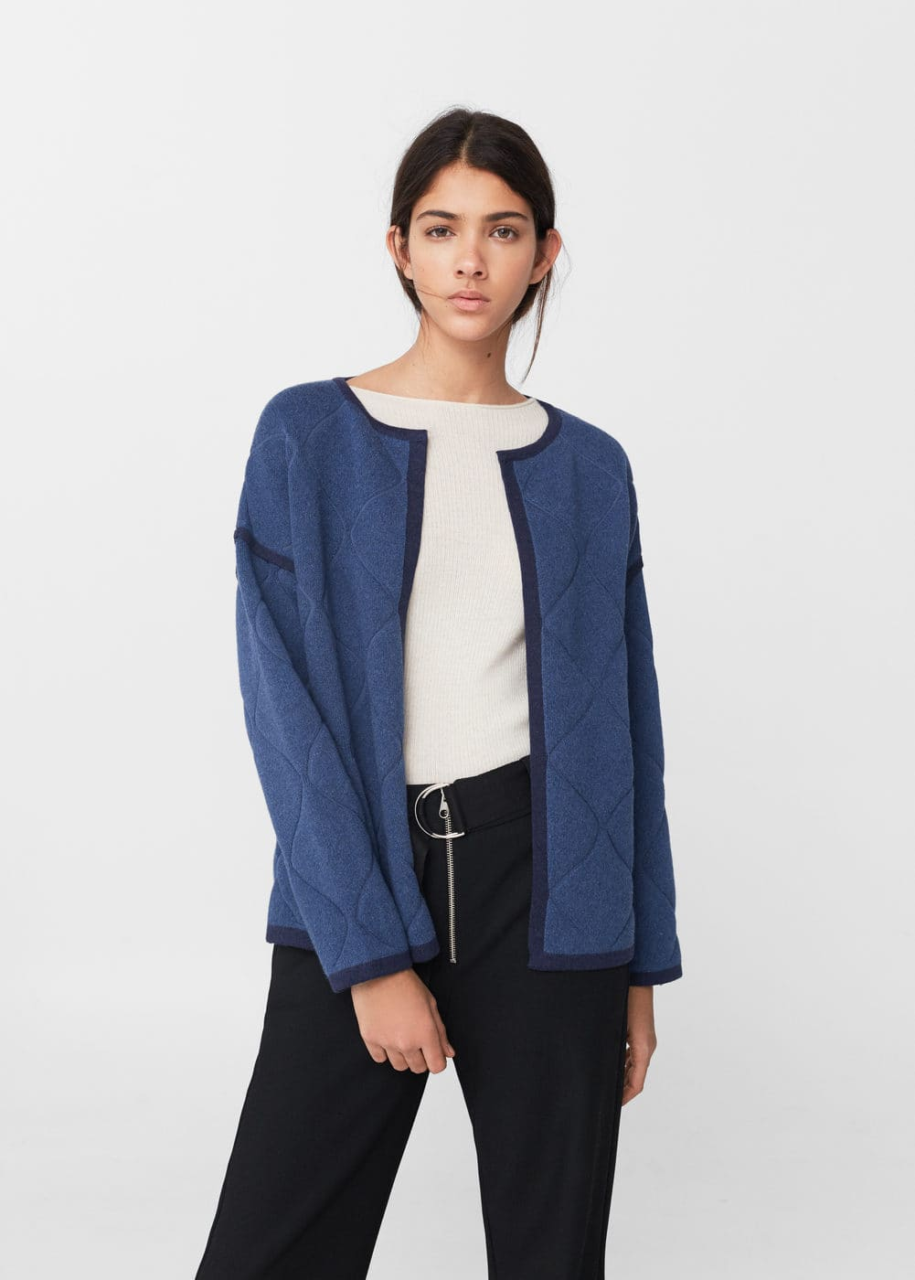 Trim cotton jacket | MANGO
