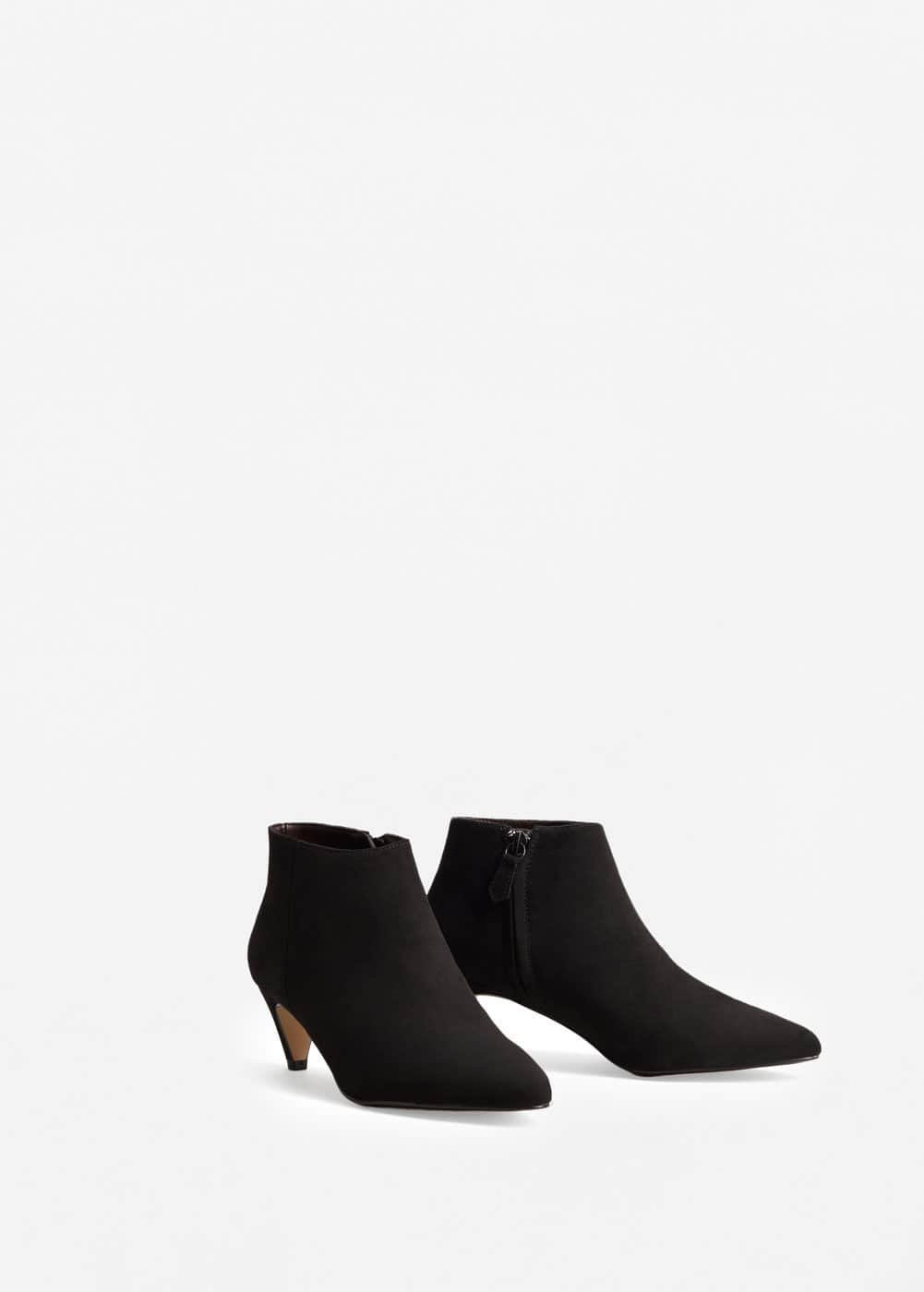 Kitten heel ankle boots - Women | MANGO USA
